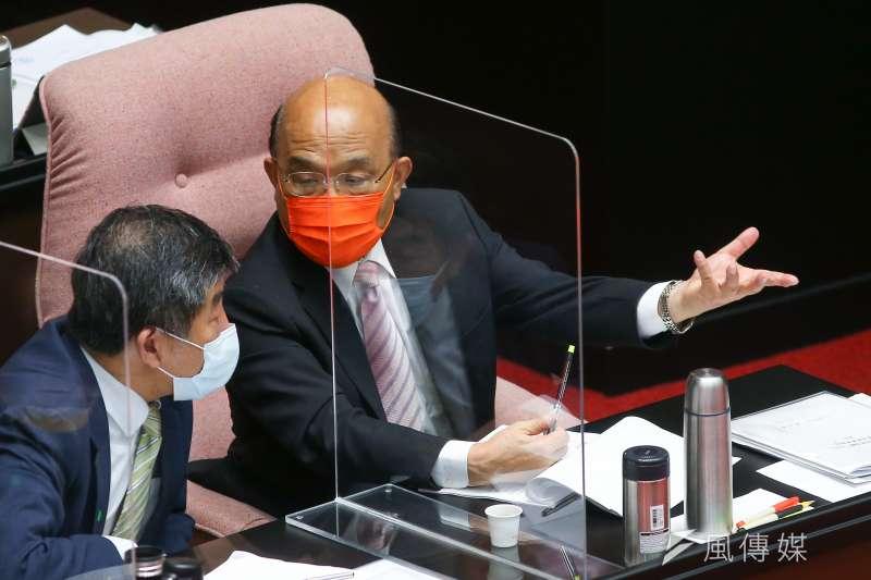 行政院長蘇貞昌就國籍航空機組員隔離「3+11」決策過程送立法院專案報告。(資料照,顏麟宇攝)