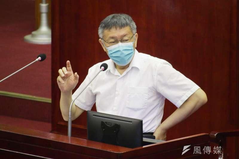 台北市長柯文哲22日至市議會施政報告與備詢。(蔡親傑攝)