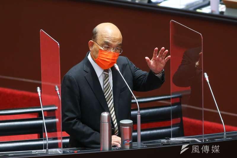 20210922-行政院長蘇貞昌22日就新冠疫苗接種、整備、受害救濟等相關事宜至立法院備詢。(顏麟宇攝)