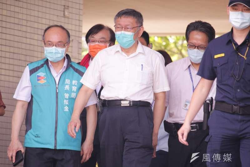 對於五倍券數位綁定網頁當機,台北市長柯文哲上午受訪時表示,他不可以幸災樂禍,這方向是對的,但執行還是要注意。(蔡親傑攝)