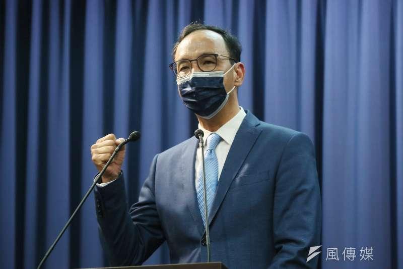 前新北市長朱立倫(見圖)當選國民黨主席。(柯承惠攝)
