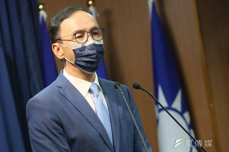 國民黨主席當選人朱立倫(見圖)表示,絕對不容許民進黨為一人之私、為一黨之私搞竹竹合併。(資料照,柯承惠攝)