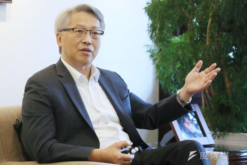 中央研究院院長廖俊智接受《風傳媒》專訪。(柯承惠攝)