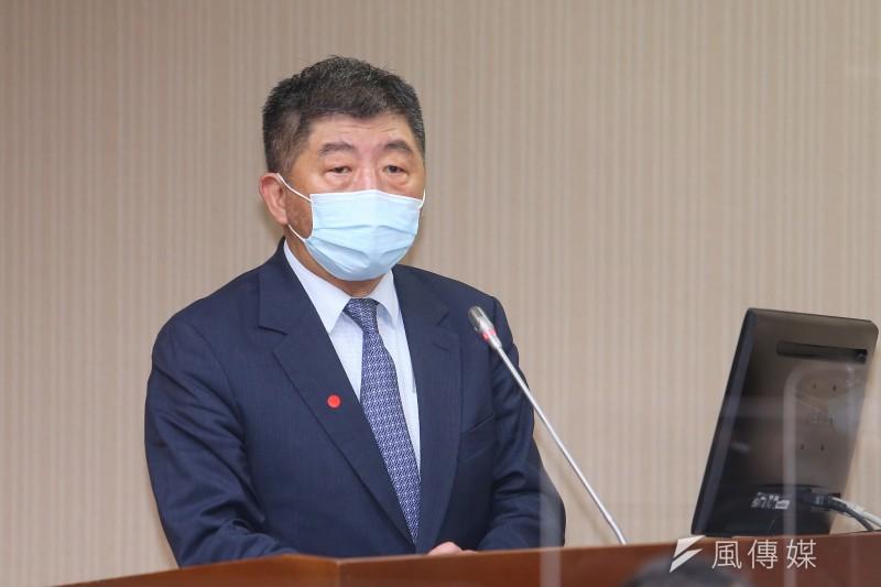 20211006-衛福部長陳時中6日出席「COVID-19(新冠肺炎)疫苗採購調閱專案小組第1次全體委員會議」。(顏麟宇攝)