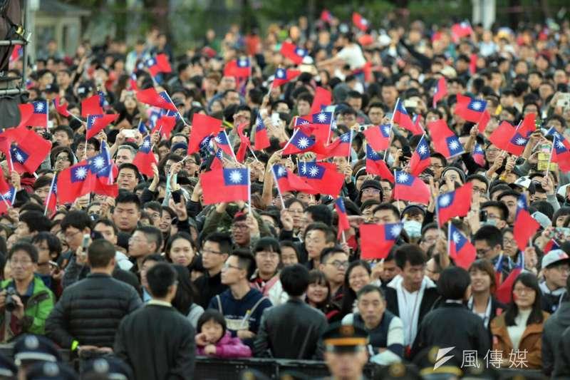 中華民國106年元旦升旗典禮(台北市攝影記者聯誼會提供)