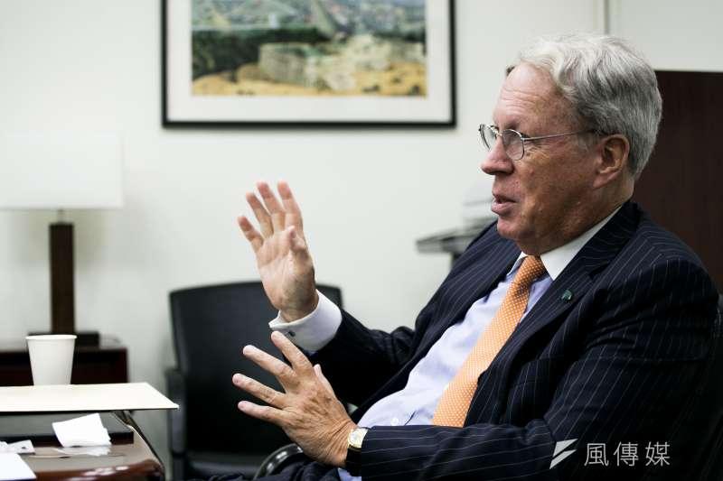 美國在台協會(AIT)理事主席薄瑞光(Raymond Burghardt)即將退休,見證台灣近30年來的民主發展。(曾原信攝)