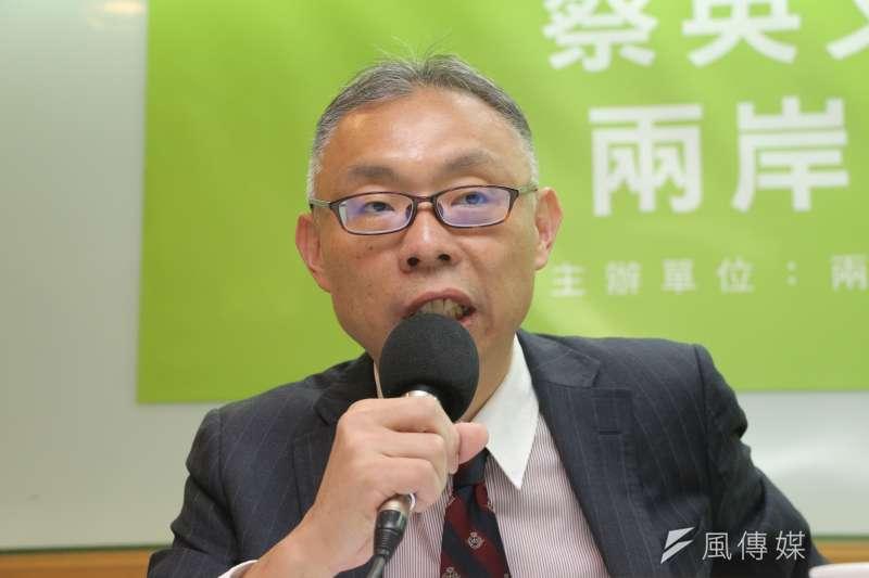 范世平出席兩岸政策協會舉辦「蔡英文總統520就職前 兩岸議題民調」記者會(葉信菉攝)