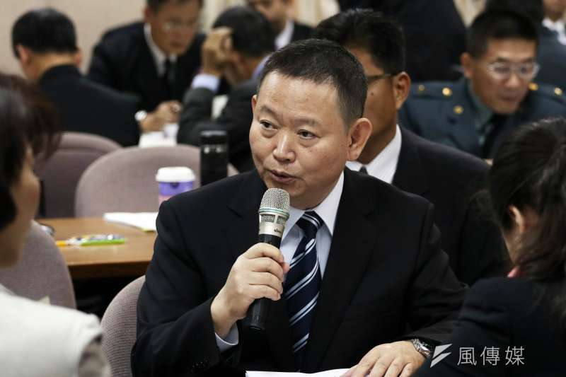 20161214-政治作戰局長聞振國中將出席外交國防委員會。(蘇仲泓攝)