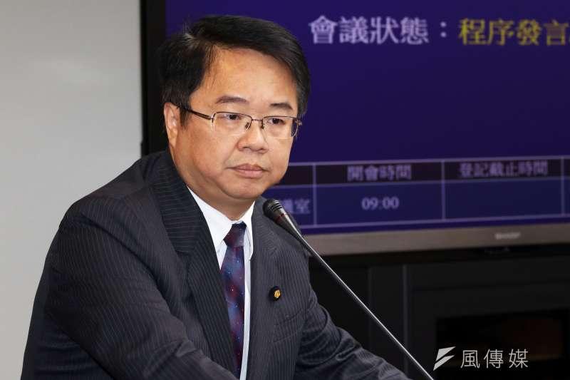 民進黨立委吳秉叡針對同性伴侶法及民法表示意見。(資料照片,蘇仲泓攝)