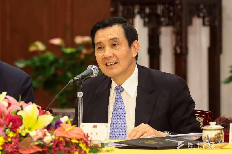 馬英九總統13日下午舉行中外記者會,說明馬習會成果。(顏麟宇攝)