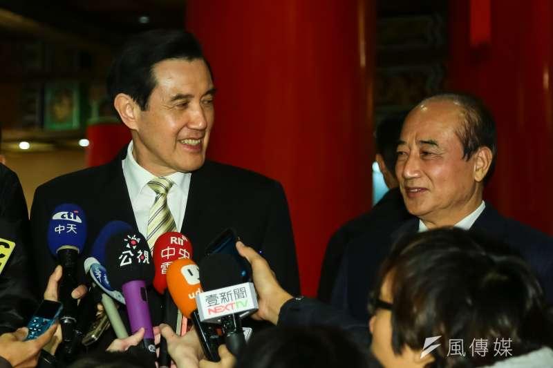 馬英九、王金平一同出席國民黨高層團結宴。(顏麟宇攝)