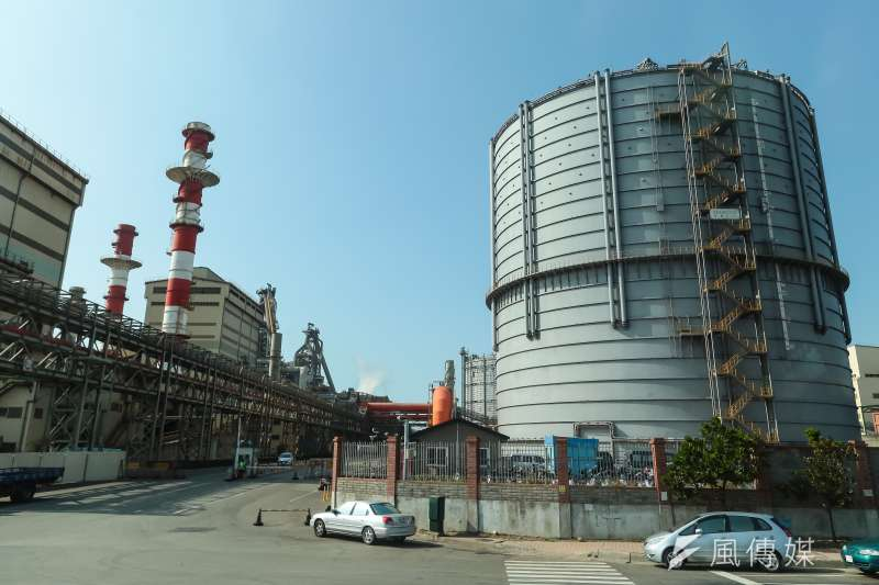 台灣中油公司台中液化天然氣廠。(顏麟宇攝)