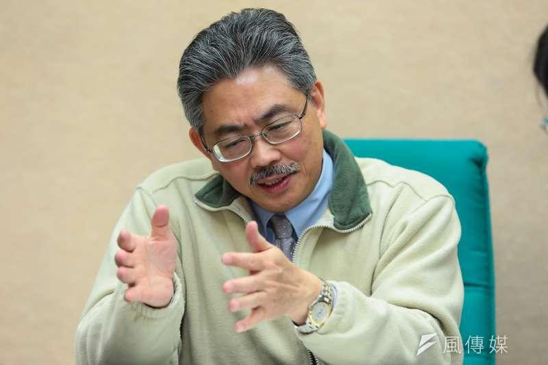國立台灣大學公共衛生學院院長陳為堅。(顏麟宇攝)