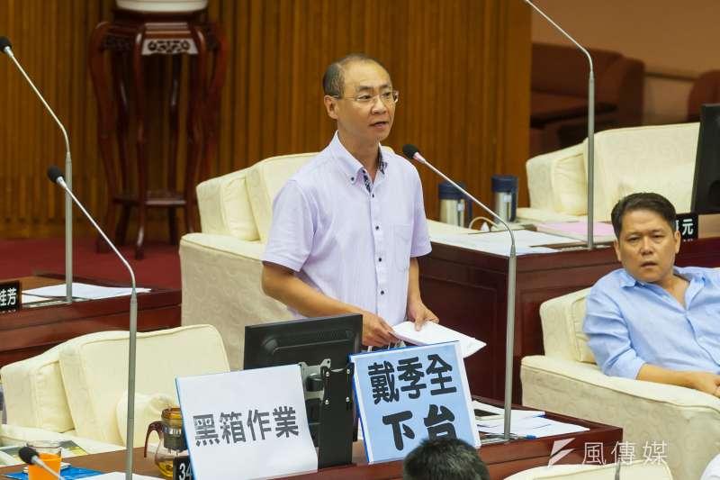 台北市議員陳永德。(顏麟宇攝)