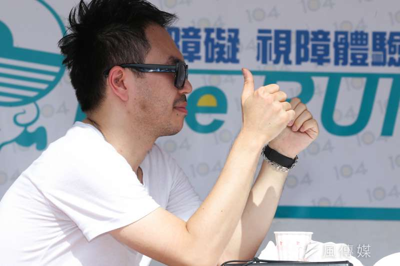 <Eye Run解放視障 視障體驗賽>主辦人甘仲維(林韶安攝)