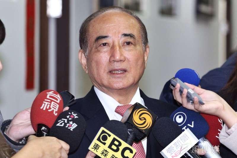 前立法院長王金平回應前總統馬英九遭起訴一事。(曾原信攝)