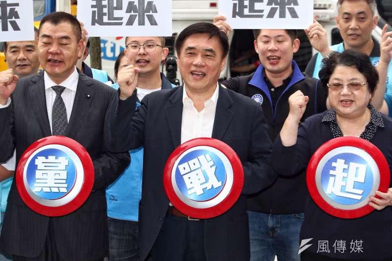 前交通部長葉匡時發表聲明,支持國民黨副主席擔任國民黨黨主席。(曾原信攝)