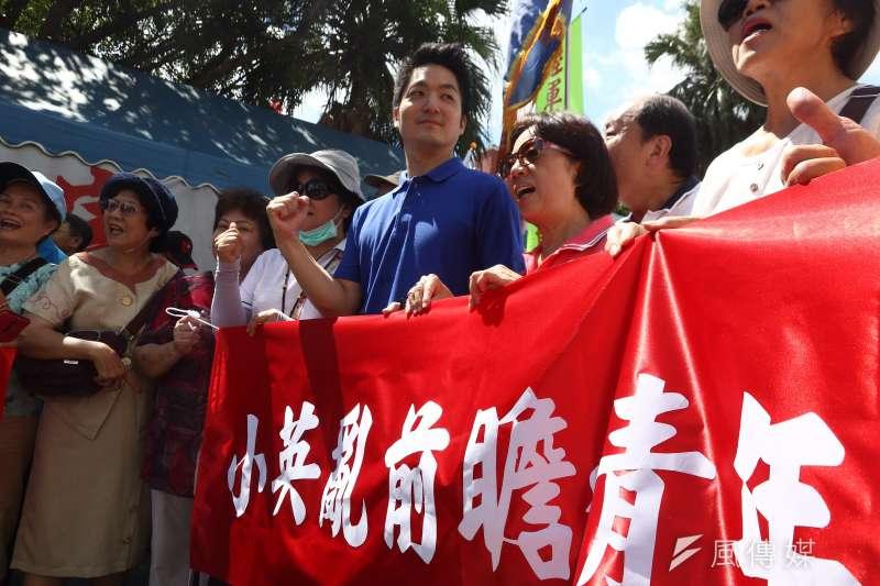 20170703反對前瞻計劃民眾在國民黨立委帶領下遊行立院周邊,立委蔣萬安