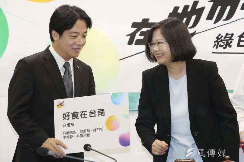 台灣民意基金會調查行政院長賴清德(左)滿意度,不滿意的人比滿意的人多3個百分點,是賴清德上任以來的第一次。(資料照,林韶安攝)