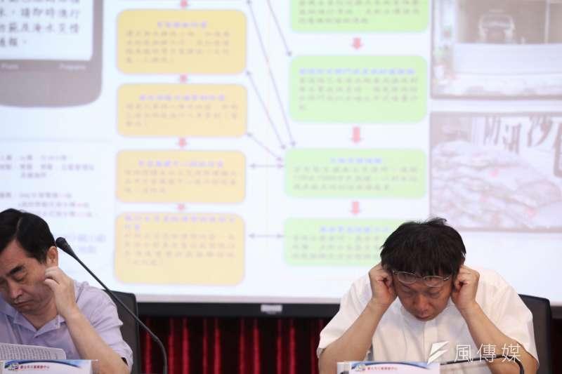 台北市長柯文哲參加會議。(林韶安攝)