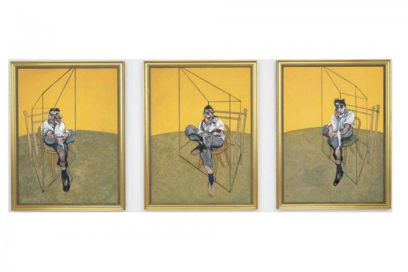 「盧西安 • 佛洛伊德肖像的三幅習作」(Three Studies of Lucian Freud)