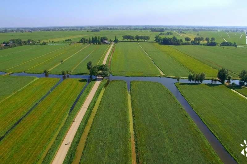 上個世紀20年代,一位荷蘭飛行員飛越荷蘭西部時,看到一大片綠地被四個城市所包圍,他用「綠心」來形容他看到的景象。(圖/截自《農村的遠見》臉書粉絲團)