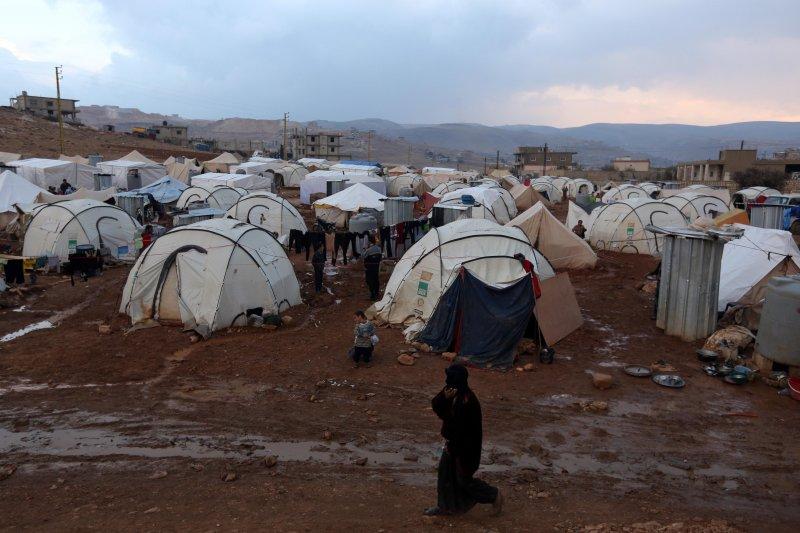 敘利亞內戰難民,在前線收容國的情況依舊嚴峻。(美聯社)