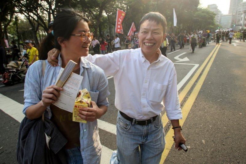 2015台北廢核遊行,導演王小棣。(林韶安攝)