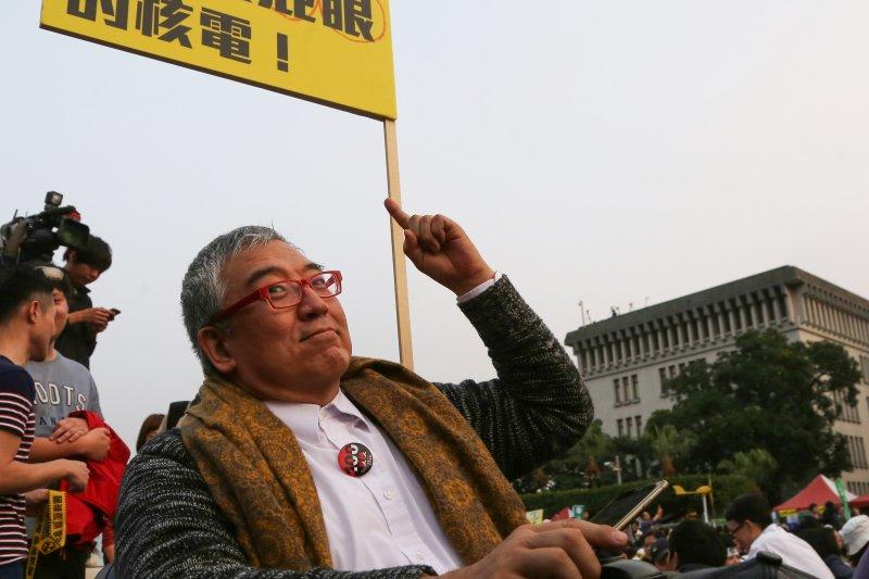 2015台北廢核遊行,郝明義。(楊子磊攝)