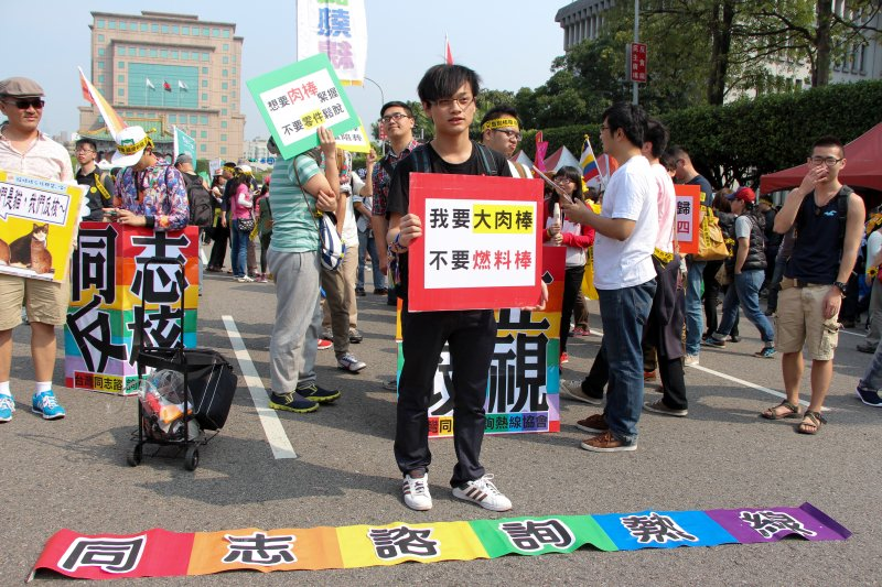 2015台北廢核遊行,廢核容顏。(葉信菉攝)