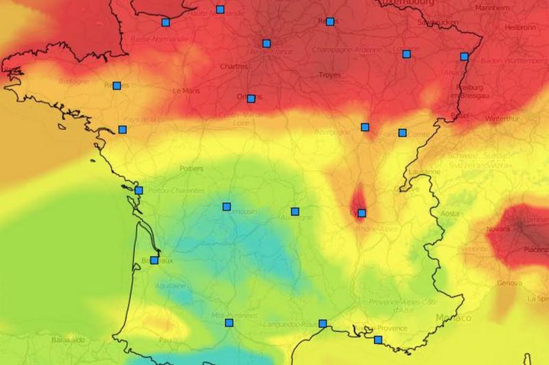 法國北部近日的空污情況確實比較嚴重。(翻攝網路)
