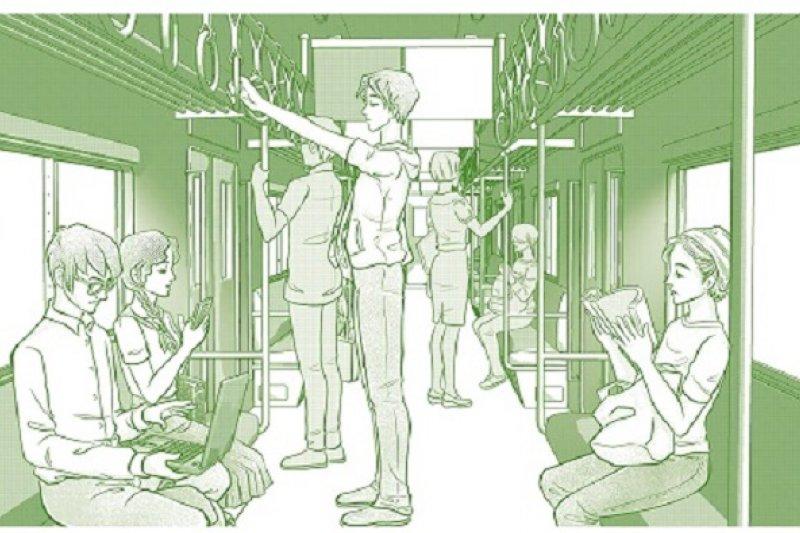 安靜的搭車絕對的秩序,正是日本人的特性。