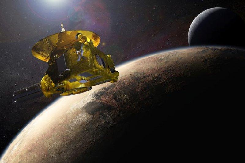 藝術家筆下的新視野號與冥王星