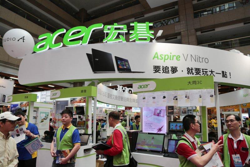 2015台北春季電腦展,ACER,筆電。(余志偉攝)