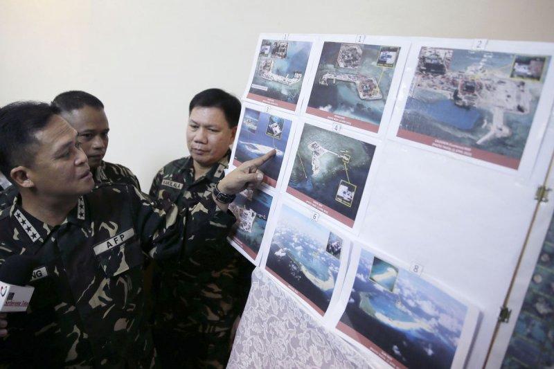 菲律賓軍方抗議中國在南海填海造陸