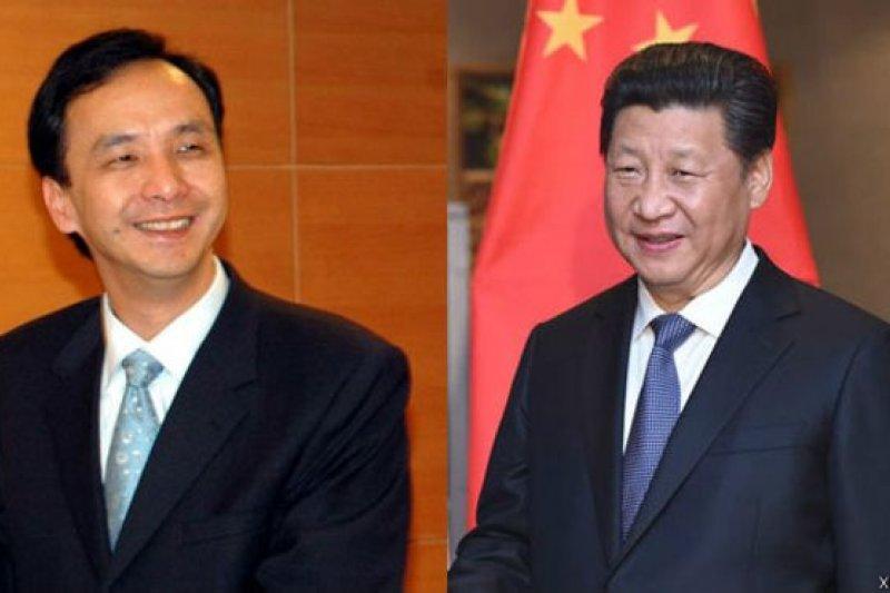 國民黨主席朱立倫和中共中央總書記習近平