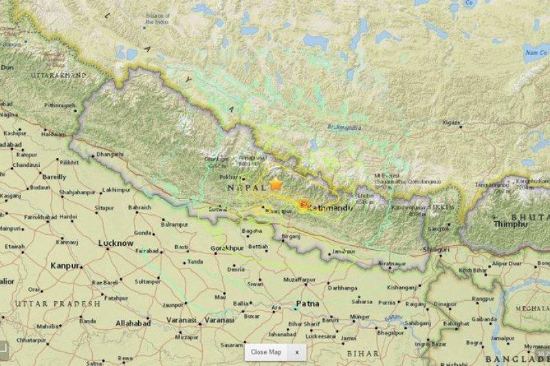 2015年4月25日,尼泊爾發生大地震。