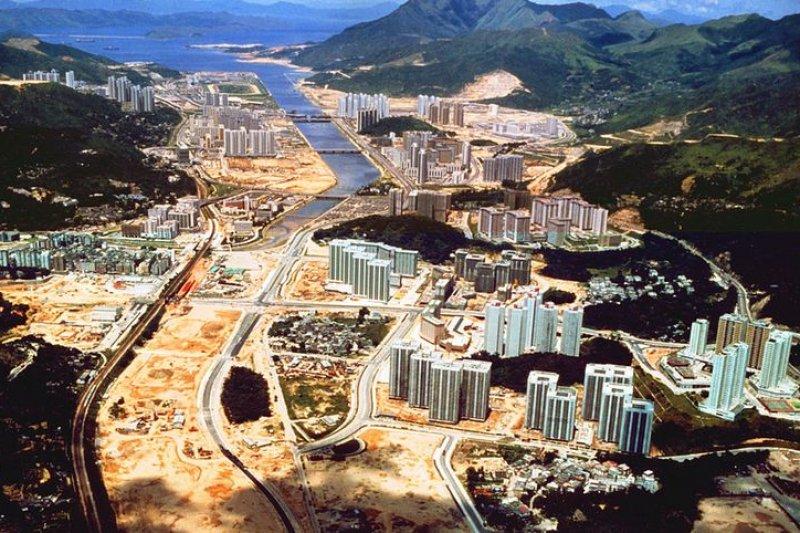 1983年正在發展的沙田新市鎮(WiNG/維基百科)