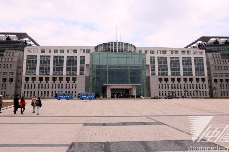 20131205-國防部位於台北市大直北安路新建大樓主體外觀,國防部新大樓預計2014啓用。(吳逸驊攝)
