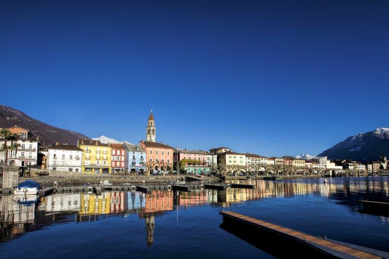 海拔只有196米的阿斯科納(Ascona)是瑞士地勢最低的小鎮(圖/Diriye Amey@flickr)