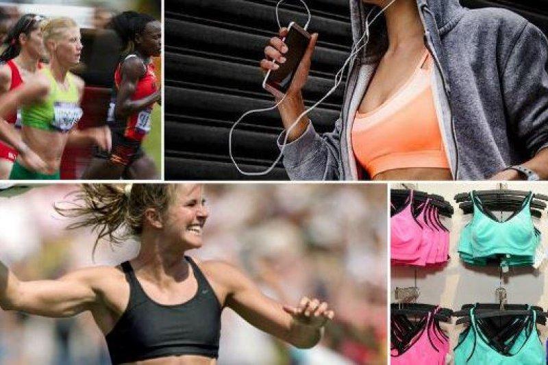 女性內衣的發明,改變了女性運動的習慣。(取自推特)