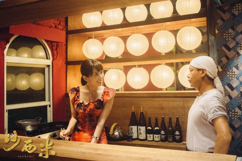 波多野結衣首度主演電影《沙西米》就與金馬獎影帝李康生(右)合作。photo credit:沙西米-Sashimi臉書