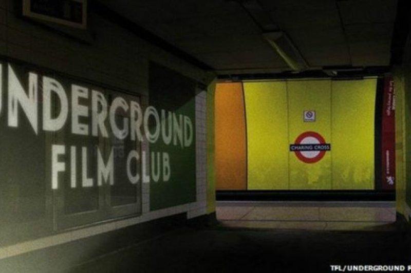 地鐵電影院是個臨時影院,5月底在倫敦查寧閣車站開張。(BBC中文網)
