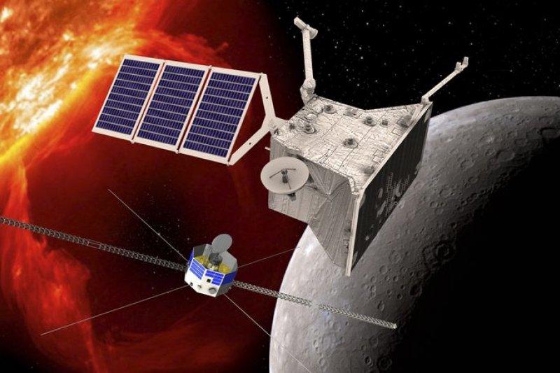 歐洲與日本聯手打造的「貝皮可倫波號」(BepiColombo)水星太空船