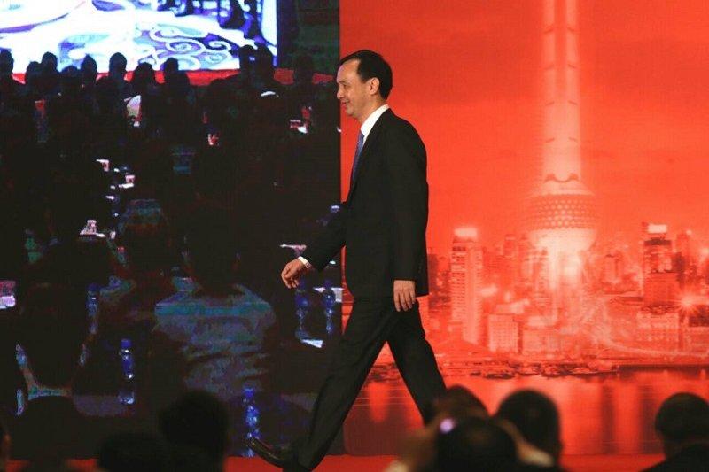 朱立倫出席兩岸經貿文化論壇會議。(吳逸驊)