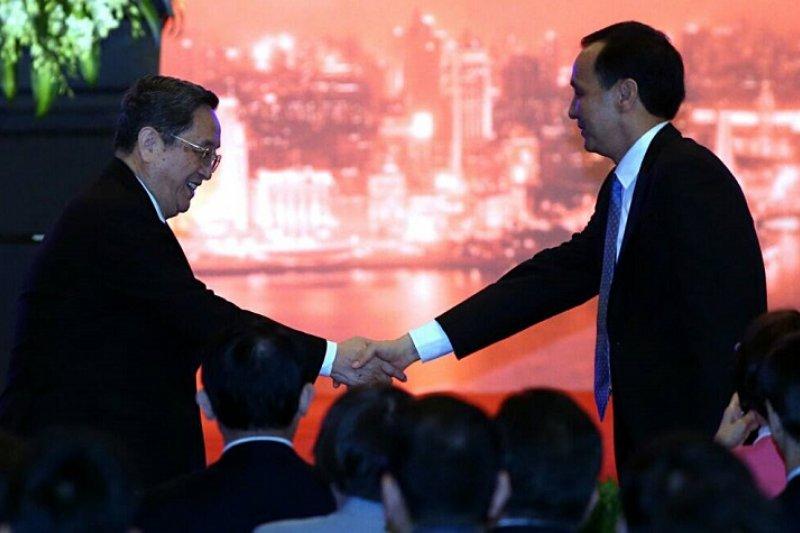 全國政協主席俞正聲正面回應朱立倫「兩岸攜手區域經濟」的主張。(吳逸驊攝)