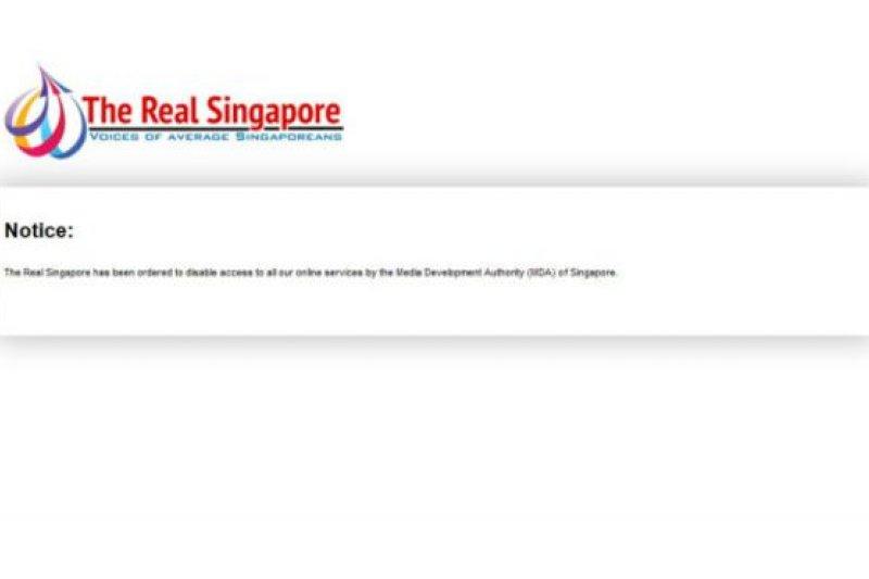 新加坡媒體發展局3日宣佈撤銷「真實新加坡」的運營執照。