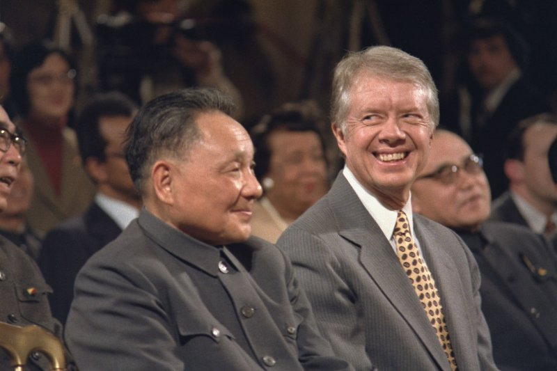 1979年訪美的鄧小平與時任美國總統的卡特。(翻攝維基百科)