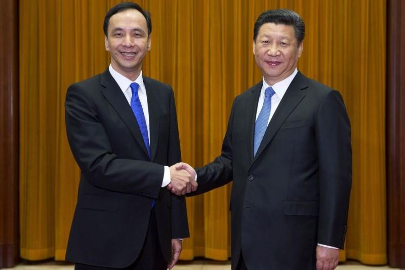 國民黨主席朱立倫與中共總書記習近平