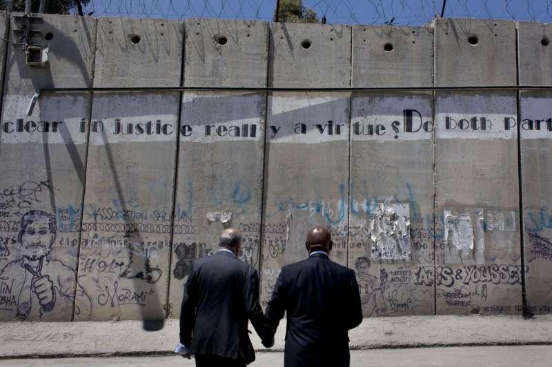 阻隔約旦河西岸與以色列的隔離牆(AP)